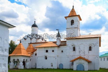 the old church in svirsky monastery
