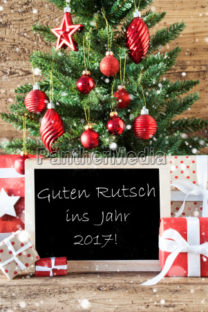 colorful tree with guten rutsch 2017