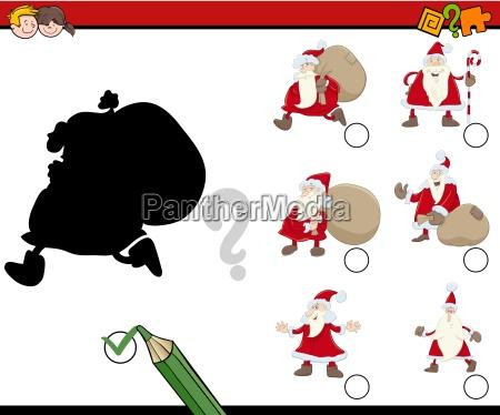shadows game with santa