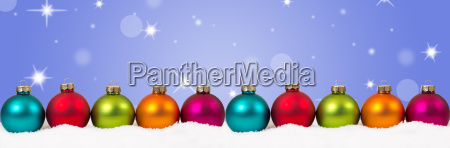 christmas colorful christmas balls banner decoration
