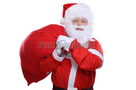 santa claus with sack for gifts