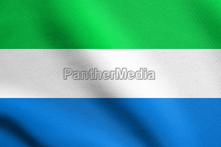 flag of sierra leone waving with