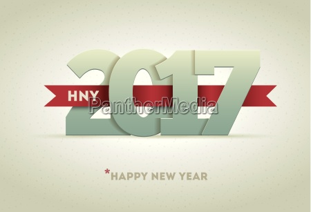 2017 happy new year vector greeting