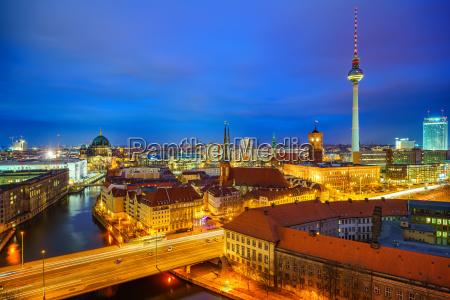berlin aerial view germany
