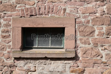 window on an old building in