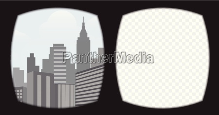 virtual reality glasses overlay on the