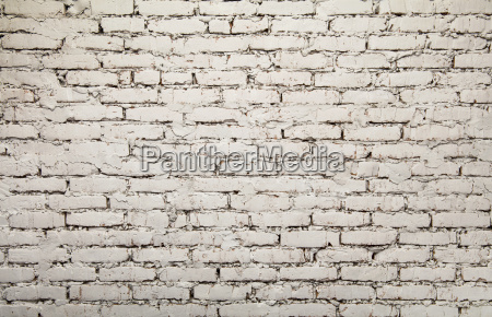 old white painted grunge brick wall