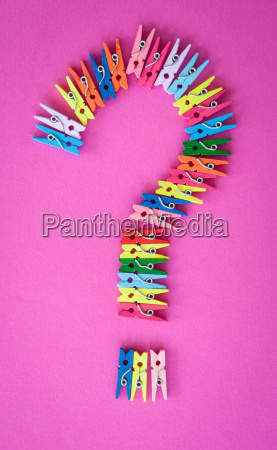 colorful ash clips on pink