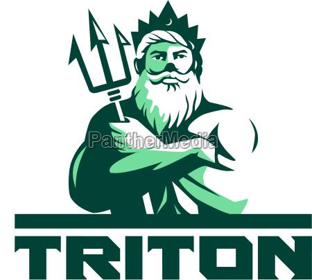 triton arms crossed trident front retro