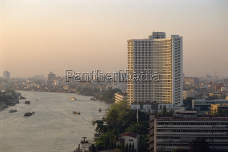 chao phya river bangkok thailand southeast