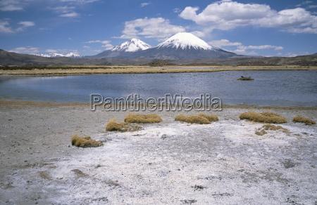 volcan parinacota 6330m on right volcan