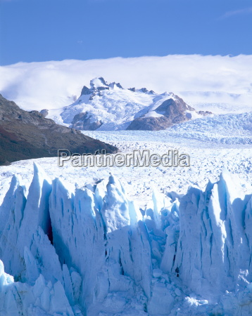 perito moreno glacier and andes mountains
