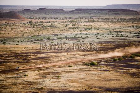 land rover in red centre australia