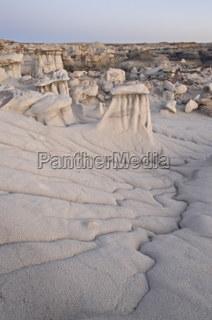 hoodoos and erosion drainage bisti wilderness