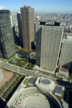 city skyline metropolitan government buildings shinjuku
