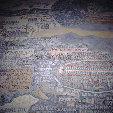 madaba mosaic map 6th century ad