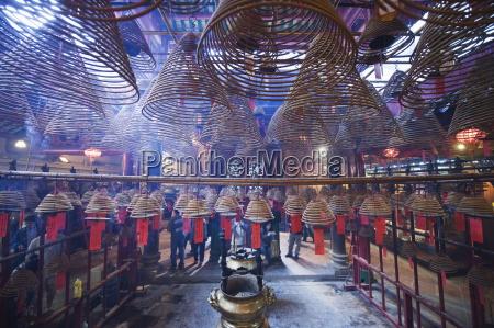 incense coils man mo temple hong