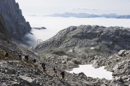 hikers in the picos de europa