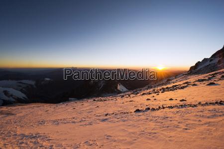 sunrise aconcagua 6962m highest peak in
