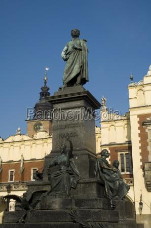 statue of the romantic poet mickiewicz