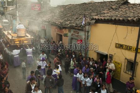 easter procession chichicastenango guatemala central america