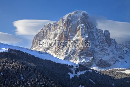 sassolungo mountain 3181m val gardena dolomites