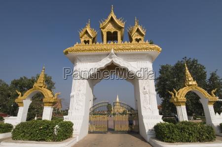 pha that luang vientiane laos indochina