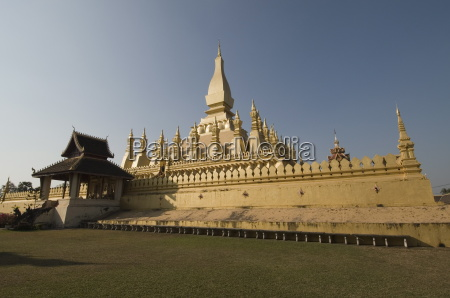 pha that luang vientiane laos indochina