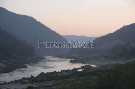 mekong river near pakbang laos indochina