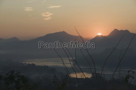 mekong river at sunset luang prabang
