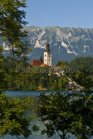 church of the assumption on bled