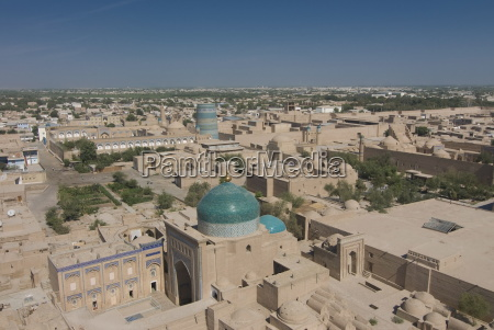 overlooking the mosques at ichon qala