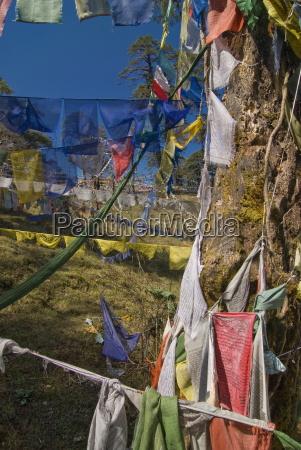prayer flags on the pass dochu