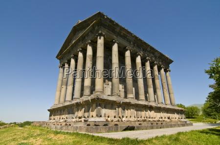 the hellenic temple of garni armenia