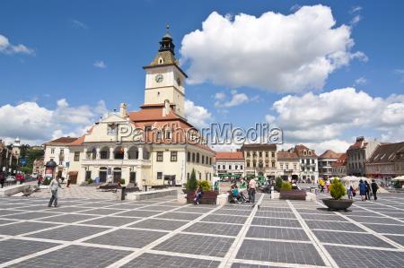 brasov council square brasov transylvania romania