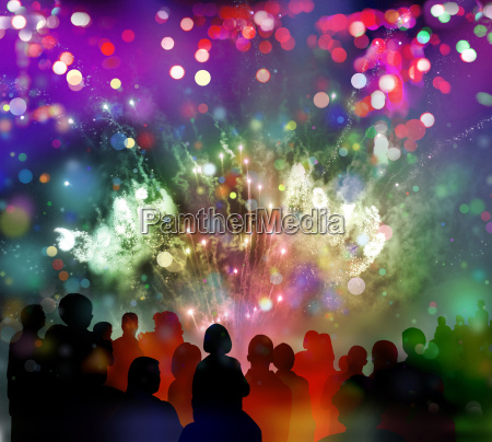 fireworks confetti spectator