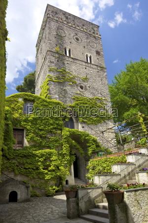 the 11th century tower in villa