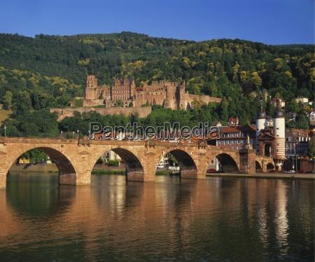 heidelberg castle alte brucke and the