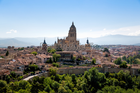 the imposing gothic cathedral of segovia
