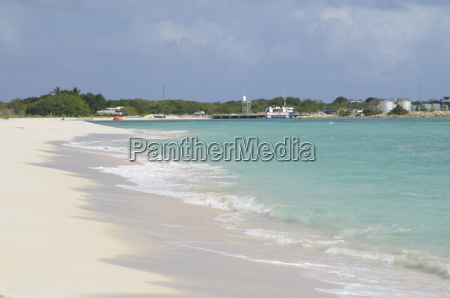 wonderful sandy beach barbuda antigua and