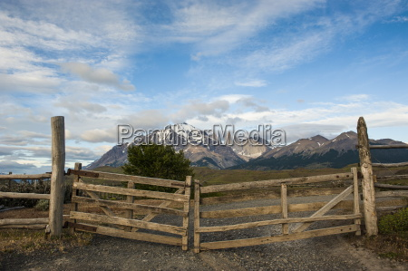 cattle gate with the towers of