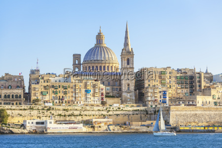 valletta skyline with the dome of
