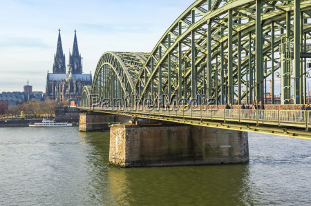 cologne cathedral and hohenzollern bridge cologne