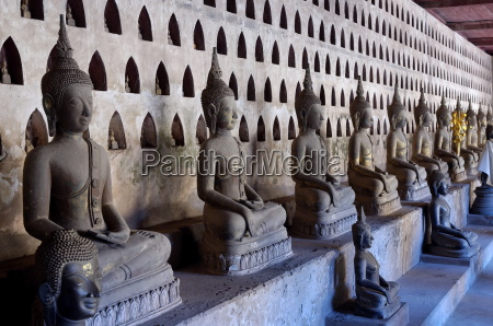 buddha statues in the cloister or