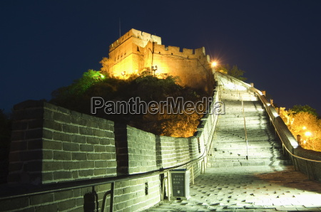 illuminations on the great wall of