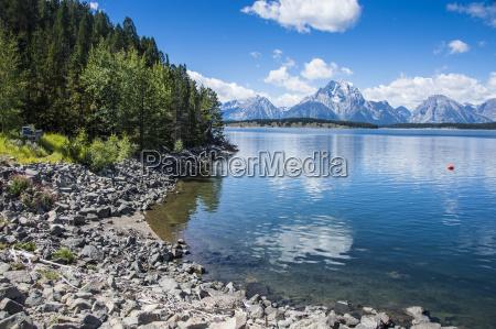 jackson lake in the teton range