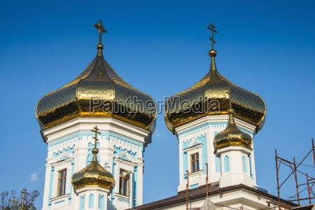 ciuflea monastery in the center of
