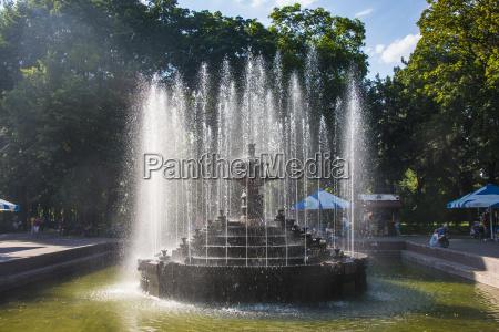 water fountain in the stefan cel