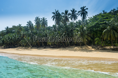 remote tropical beach on the unesco