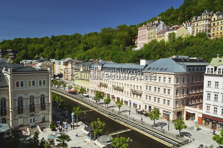 historic spa section of karlovy vary